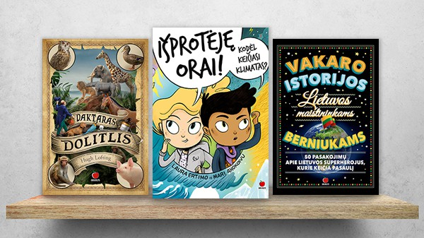 VAIKAMS: naudingos knygos mažiesiems skaitytojams