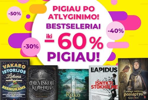 DIENA PO ATLYGINIMO: Bestseleriai iki -60% PIGIAU!